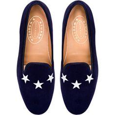Stubbs & Wootton Commodore Loafer In Navy Velvet
