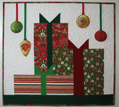 Quilted Wall Hanging , Christmas Wall Hanging , Christmas Art Quilt by VillageQuilts on Etsy