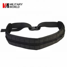 5bde04e9db 1000D Nylon MOLLE Tactical Padded Waist Belts Men Airsoft Combat Army Belt  Waistband Breathable Hunting Accessories Black
