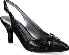Karen Scott Women's Shoes in Black color. Visit our web site to compare prices on this pair or for TONS of easily pinnable content for your boards. #shoes #fashion #style #footwear