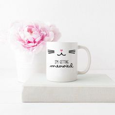"Such a cute way to announce your engagement with this fun mug! ""I'm Getting Meowied"". Perfect for a cat lover or any bride to be! All of our mugs are: - Dishwasher & microwave safe - Standard 3.15"" x"