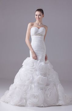 Same As Picture Modern Garden Trumpet Sweetheart Zip up Court Train Bridal Gowns