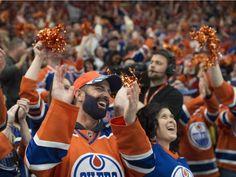 Oilers fans cheer their hearts out in Game 7 versus Anaheim Ducks 13 Game, Anaheim Ducks, Edmonton Oilers, Cheer, Fans, Hearts, Running, Racing, Keep Running