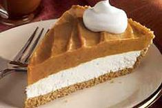 Creamy Two-Layer Pumpkin Pie recipe
