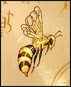 Barbara McKee ~ Gilded Bee from the gold leaf gilding class