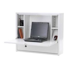 Greg at Workalicious is looking for a wall mounted desk and has found a few, including this sixty buck IKEA number. They can be useful if you don't need a lot of space, and this one even has a key and enough room to store your laptop in it.