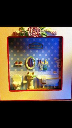 Quadro cenário banheiro