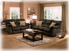 Ashley 'Motivation' Power Reclining Sofa & Loveseat