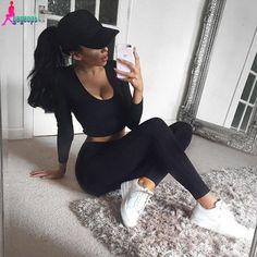 Gagaopt Women Tracksuit Fitness Set Sexy Leggings And Pullover Sweatershirt Long Sleeve Skinny Pants Women 2 Piece Sets