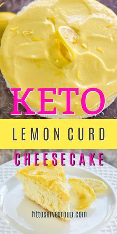 Can you imagine a Keto Lemon Curd Cheesecake that is zesty, creamy, and so good that no one will believe that's it's sugar-free, gluten-free, and . Lemon Curd Cheesecake, Lemon Curd Recipe, Low Carb Cheesecake, Lemon Curd Cake, Cheesecake Recipes, Desserts Keto, Keto Friendly Desserts, Keto Snacks, Keto Postres