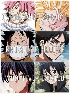 I have learned so much from the people who never existed #anime #manga