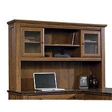 """Sauder Appleton Collection Hutch For L Desk. Sand Pear. H: 38 1/4"""" W: 59"""" D: 13 7/16"""""""