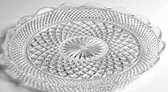 Anchor Hocking Wexford Cupped-Edge Torte Plate