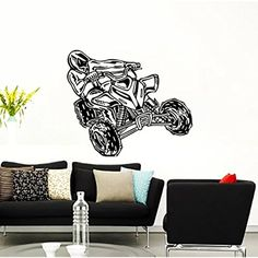Wall Decals ATV Quad Bike Racing Rider Extreme Speed Jumping Motorbike Kids Boys Room Nursery Wall Vinyl Decal Stickers Bedroom Murals ** You can get more details by clicking on the image. (This is an affiliate link) #KidsFurnitureDcorStorage