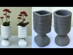 Diy Projects Cement, Plants In Bottles, Reuse Plastic Bottles, Potted Plants, Planter Pots, The Creator, Leh, Creative, Youtube