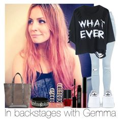 """""""In Backstages With Gemma"""" by hazzgirl03 ❤ liked on Polyvore featuring beauty, Topshop, adidas, Vanessa Bruno, Lord & Berry and Forever 21"""