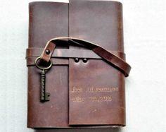 Cuaderno de cuero personalizado diario de cuero por MarkGroomGift …