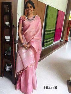 Over - Kanjivaram / Saree Store: Fashion Kanchi Organza Sarees, Kanjivaram Sarees Silk, Soft Silk Sarees, Pink Saree Silk, Indian Attire, Indian Outfits, Formal Saree, Saree Look, Elegant Saree