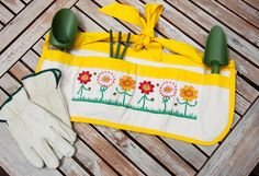 Mother's day Garden Apron- Ready to ship -  by MelissasStitches on Etsy, $45.00