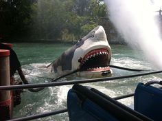Last ride on the Jaws ride...