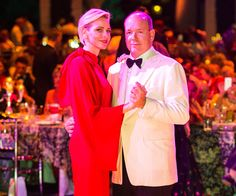 It was a star-studded gala but Monaco's Princess Charlene stole the spotlight at the Red Cross Ball last night.