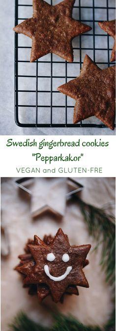 "Swedish gingerbread cookies ""pepparkakor"". Vegan and GF | Vibrant Food Stories"