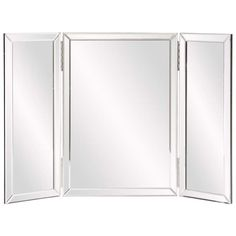 Tri Fold Vanity Mirror With Lights Howard Elliott Tripoli Trifold Vanity Mirror & Reviews  Wayfair