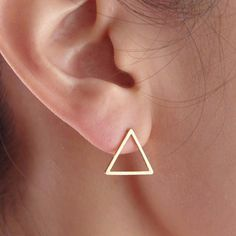 Triangle stud earrings - available in gold, rose gold & silver!