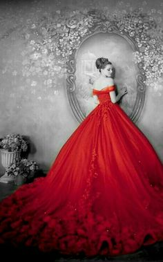 Elegant Dresses, Pretty Dresses, Sexy Dresses, Prom Dresses, Quinceanera Dresses, Red Wedding Dresses, Red Gowns, Beautiful Gowns, Dream Dress