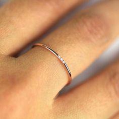 Minimalist Wedding Band, Diamond Wedding Ring, Diamond Wedding Band, Solid Gold Diamond Band, Full Round Ring with Natural Diamond Minimalistische Diamant-Ring 14 k banda de diamantes de oro macizo