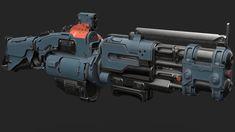 ArtStation - Sci-Fi flamethrower, Lennard Claussen Sci Fi Weapons, Weapons Guns, Future Weapons, Gun Art, Cool Gear, Environment Concept Art, Weekend Projects, Firearms, Futuristic