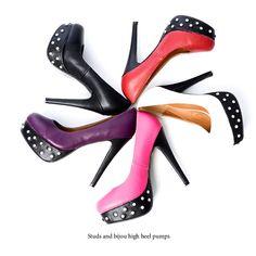 Pin heel pumps