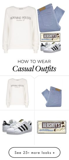 """30 second set :))))"" by tinasxx on Polyvore featuring Victoria Beckham, Wildfox, Hershey's and adidas Originals"