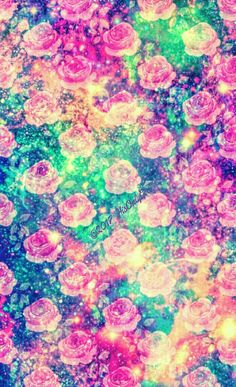 Rose garden galaxy wallpaper I created for the app CocoPPa!