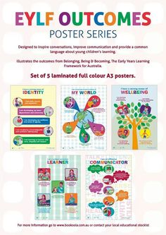 WIN 5 fabulous posters all about early learning. Play Based Learning, Learning Through Play, Early Learning, Kids Learning, Early Education, Early Childhood Education, Kids Education, Eylf Learning Outcomes, Emergent Curriculum