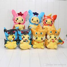 Best 10'' 25cm Poke Center Mega Tokyo Pikazard Pikachu Charizard Magikarp Brinquedo #Plush Toys# Stuffed Doll 7 Style Under $46.95   Dhgate.Com