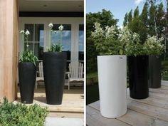 een paar mooie hoge potten maken de tuin compleet