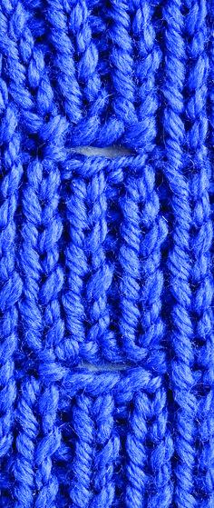 Kara's Quick-Knit Tip: Buttonholes Nice & Neat | Creative Knitting Blog