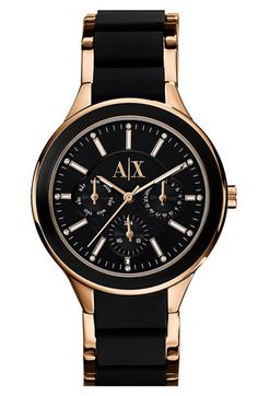 AX Armani Exchange Silicone Bracelet Watch