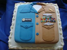 Coolest Military Cake EVER! My friend Missy's