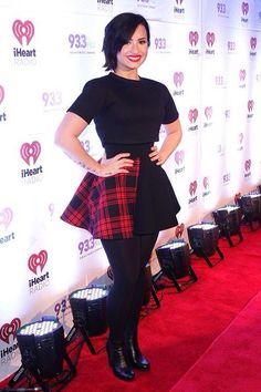 Demi Lovato on the red carpet at the Amalie Arena in Tampa Bay, FL - December 22nd FLZ JingleBall