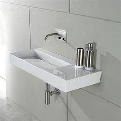 Italiensk design håndvask firkantet med bordplade