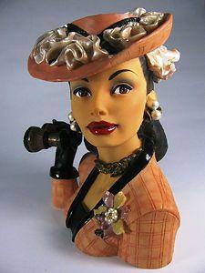 Cameo Girls lady head vase, ebay