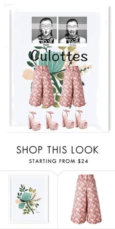 """""""#culottes"""" by ariel-stef ❤ liked on Polyvore featuring Rifle Paper Co, Coco && Breezy, Dolce&Gabbana, Giamba, TrickyTrend and culottes"""