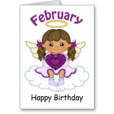 February Birthstone Angel Brunette Birthday Card  http://www.zazzle.com/february_birthstone_angel_brunette_birthday_card-137213732100586573?rf=238631258595245556
