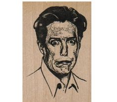 Rubber stamp    supplies man Incredulous Man  by pinkflamingo61