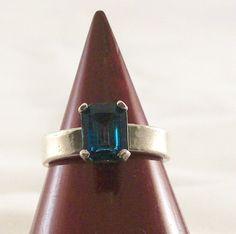 Ring  Ladies London Blue Topaz by DeezJewelryBox on Etsy, $79.95