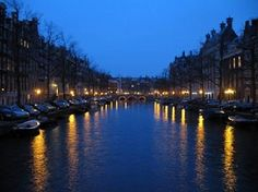 The Netherlands: Amsterdam at Night