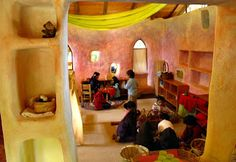 Waldorf Strawbale Preschool In Cuernavaca is Built Like a Fairy Tale Tecilli Strawbale Classroom-laboratorio arquitectura basica mx – Inhabitots