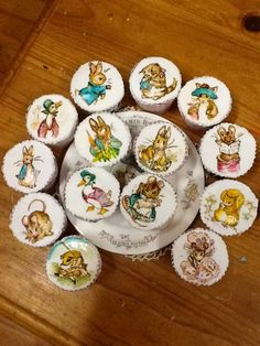 Hand painted Beatrix Potter earl grey cupcakes by Julie Shaw